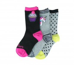 3 pack Girls Crew TT Blend